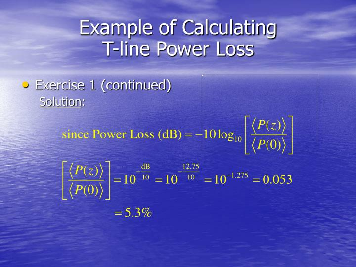 Example of Calculating