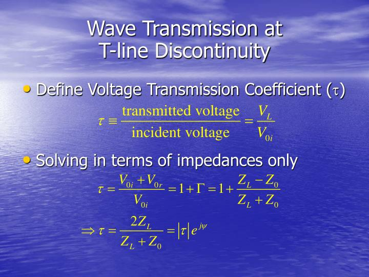Wave Transmission at