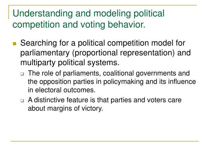 Understanding and modeling political competition and voting behavior