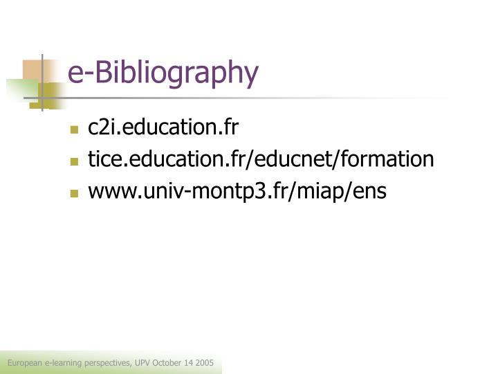 e-Bibliography