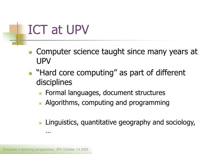 Ict at upv