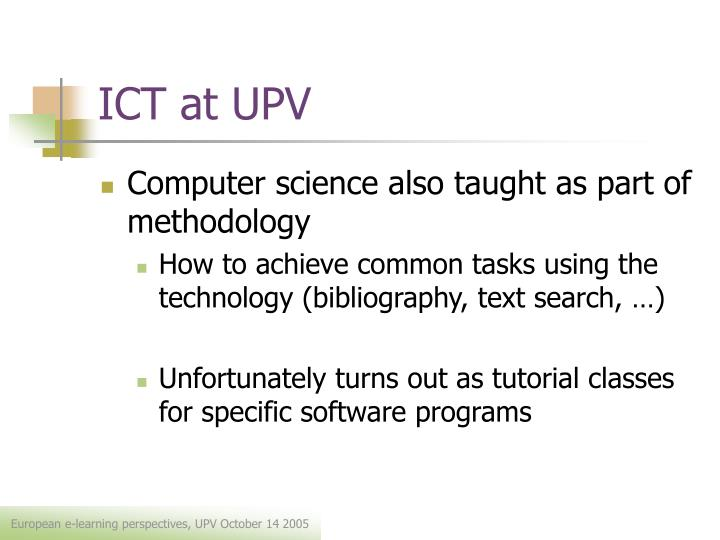 Ict at upv1
