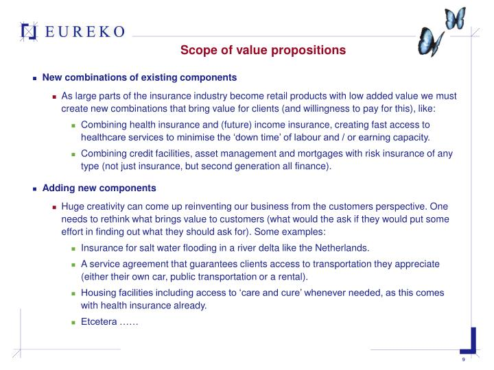Scope of value propositions