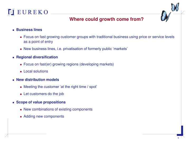 Where could growth come from?