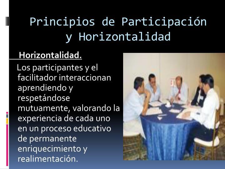 Principios de Participación y Horizontalidad