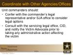 coordinate with other agencies offices