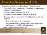 preventive techniques 4 of 6