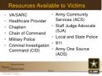 resources available to victims