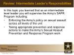 review intermediate leader s responsibilities