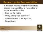 review leader responsibilities