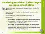 verklaring rubrieken afkortingen en codes schoollisting1