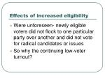 effects of increased eligibility