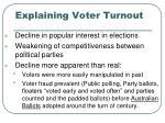 explaining voter turnout