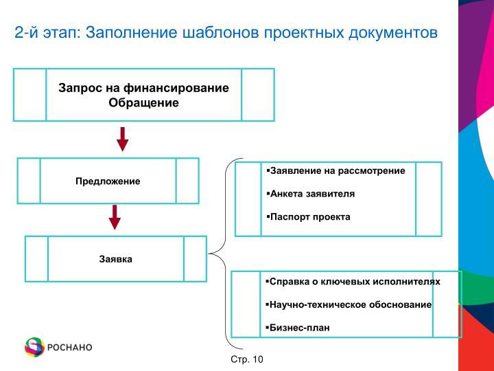 2-й этап: Заполнение шаблонов проектных документов