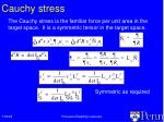 cauchy stress