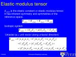 elastic modulus tensor
