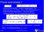 force and stress i