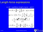length force expressions