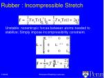 rubber incompressible stretch