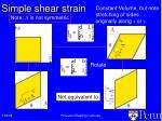 simple shear strain