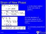 strain of new phase