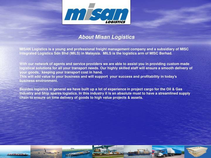 About Misan Logistics
