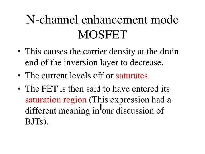 N-channel enhancement mode MOSFET