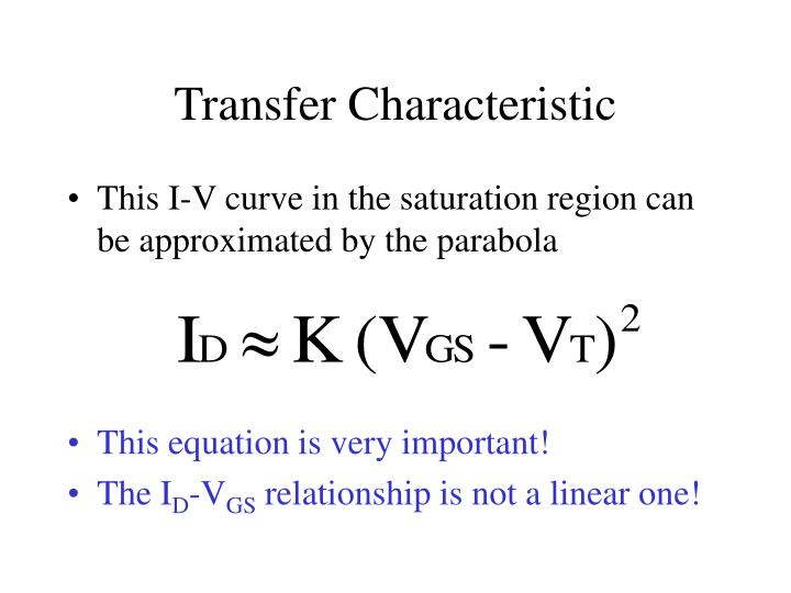 Transfer Characteristic