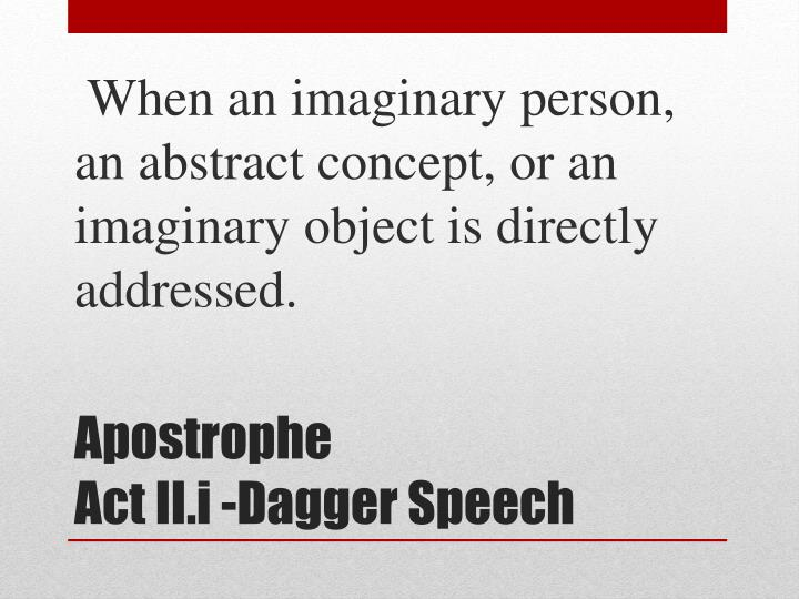 When an imaginary person