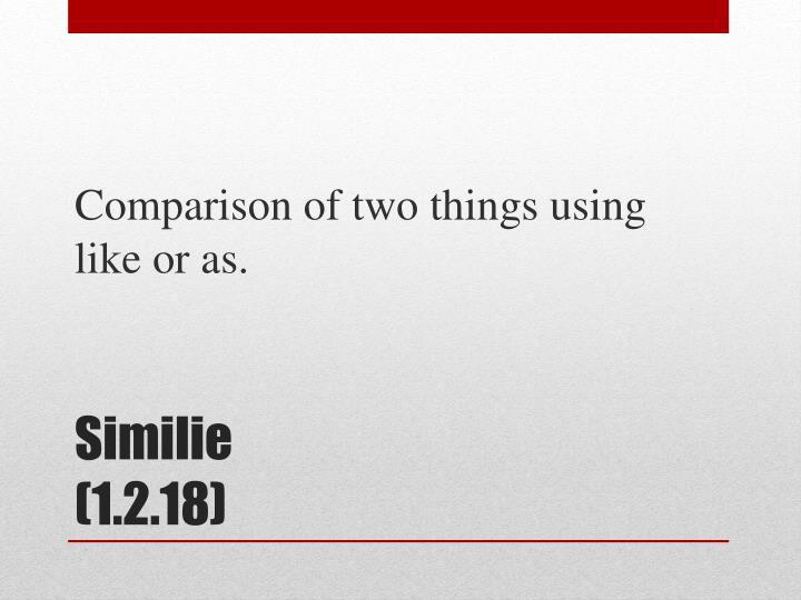 Similie 1 2 18