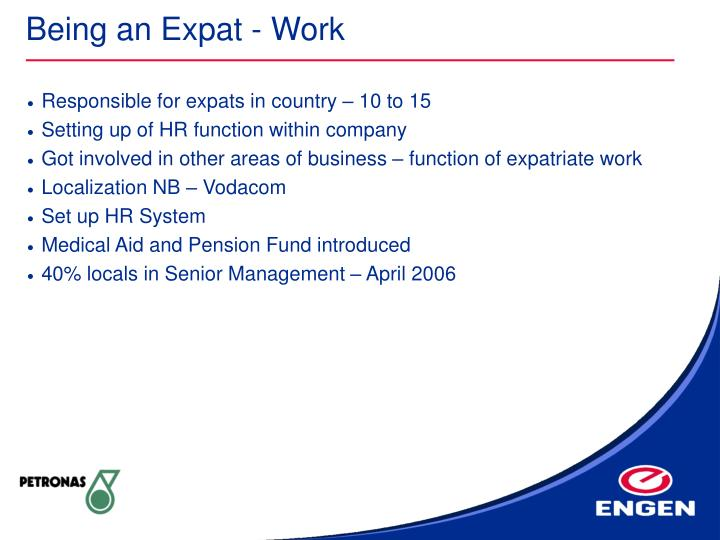 Being an Expat - Work