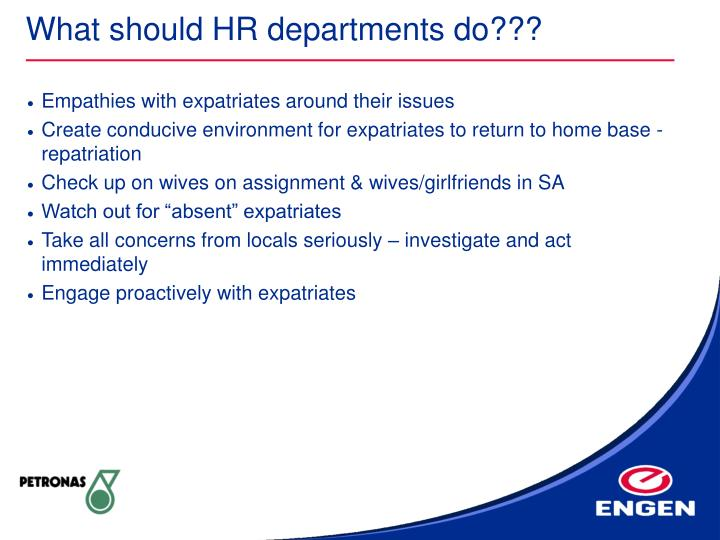 What should HR departments do???