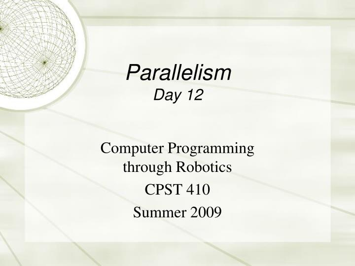 parallelism day 12