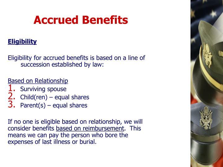 Accrued Benefits
