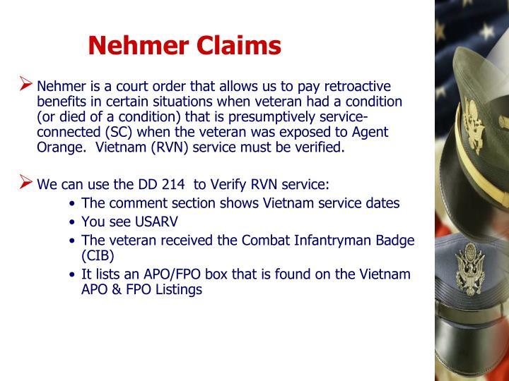 Nehmer Claims