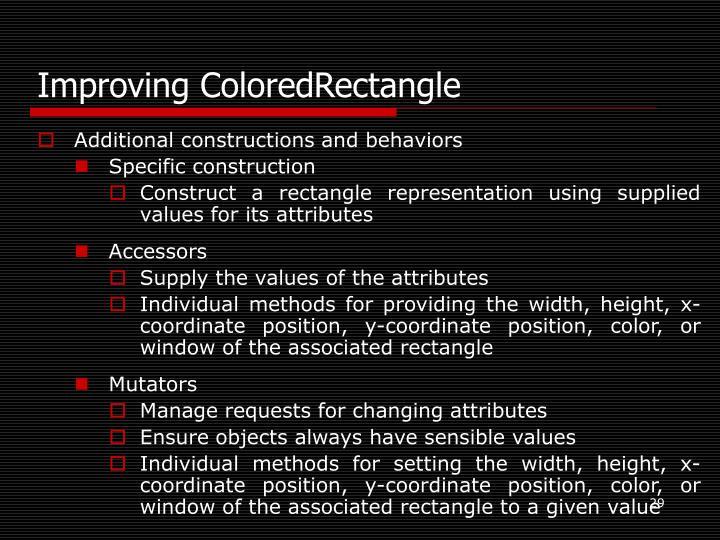 Improving ColoredRectangle