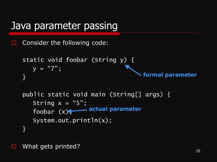 Java parameter passing
