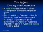 trial by jury dealing with uncertainty