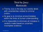 trial by jury rationale