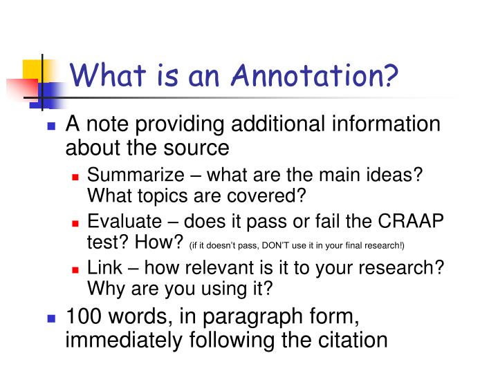 What is an annotation