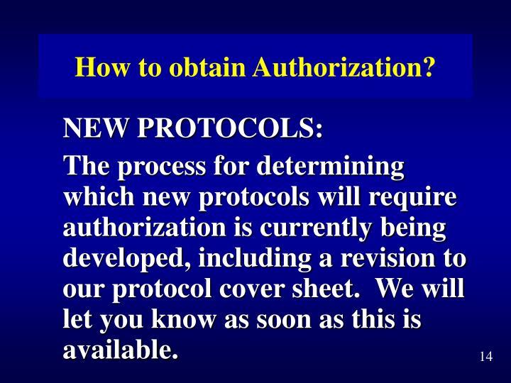How to obtain Authorization?