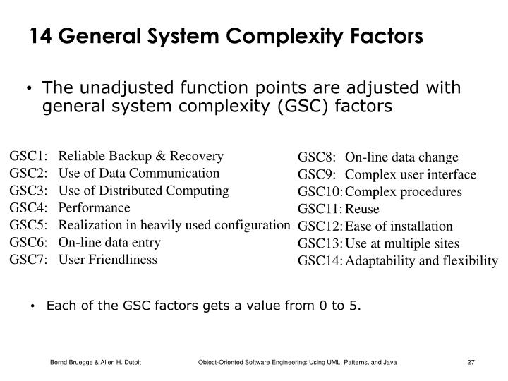 14 General System Complexity Factors