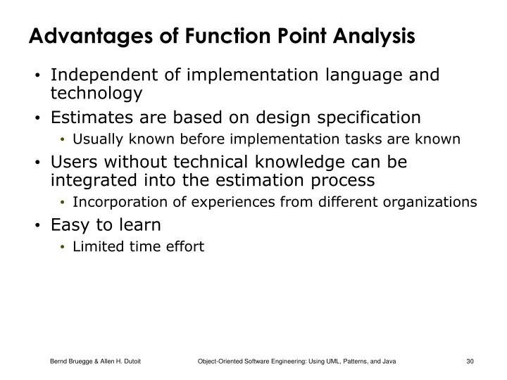 Advantages of Function Point Analysis