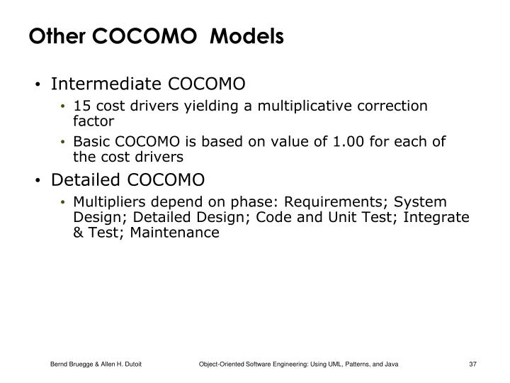 Other COCOMO  Models