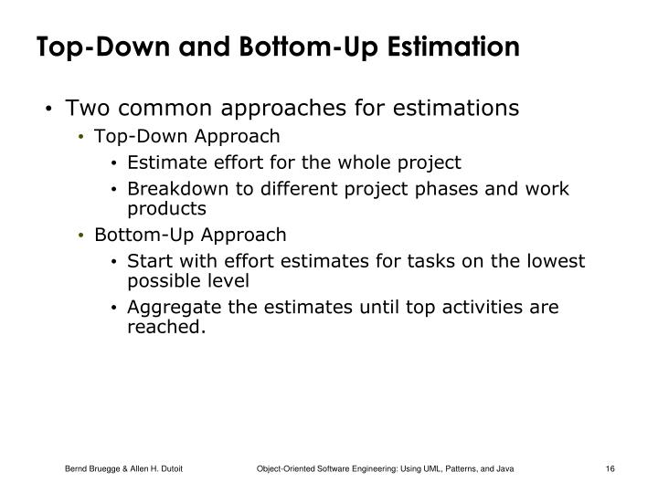 Top-Down and Bottom-Up Estimation