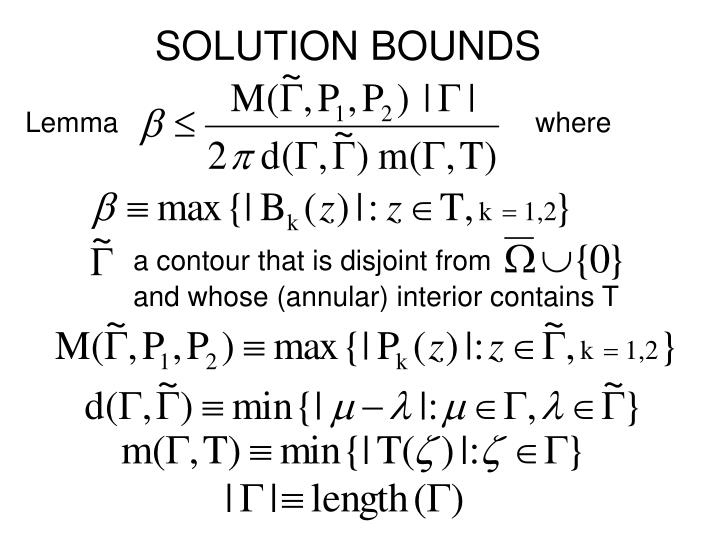 SOLUTION BOUNDS