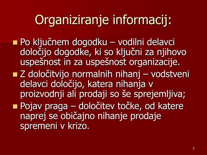 Organiziranje informacij