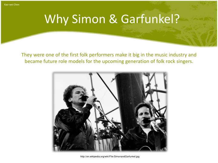 Why simon garfunkel