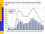 average hourly traffic on george washington bridge 2002
