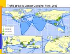 traffic at the 50 largest container ports 2003